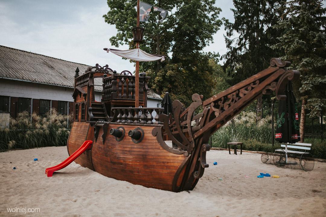 Plac zabaw w Zajeździe rybackim Pustelnia