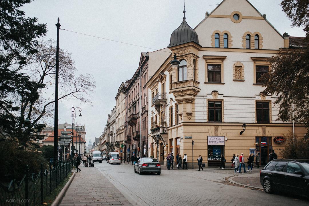 Miejsce przed Muzeum Archeologicznym w Krakowie