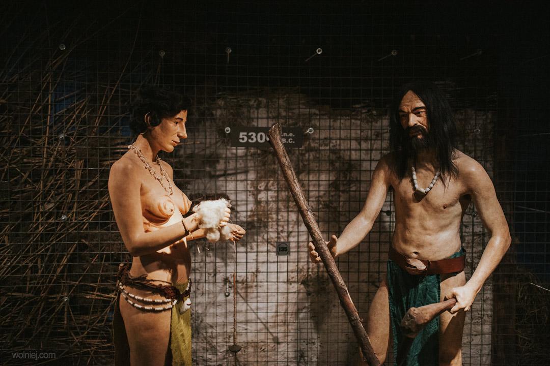Ludzie pierwotni w Muzeum Archeologicznym w Krakowie